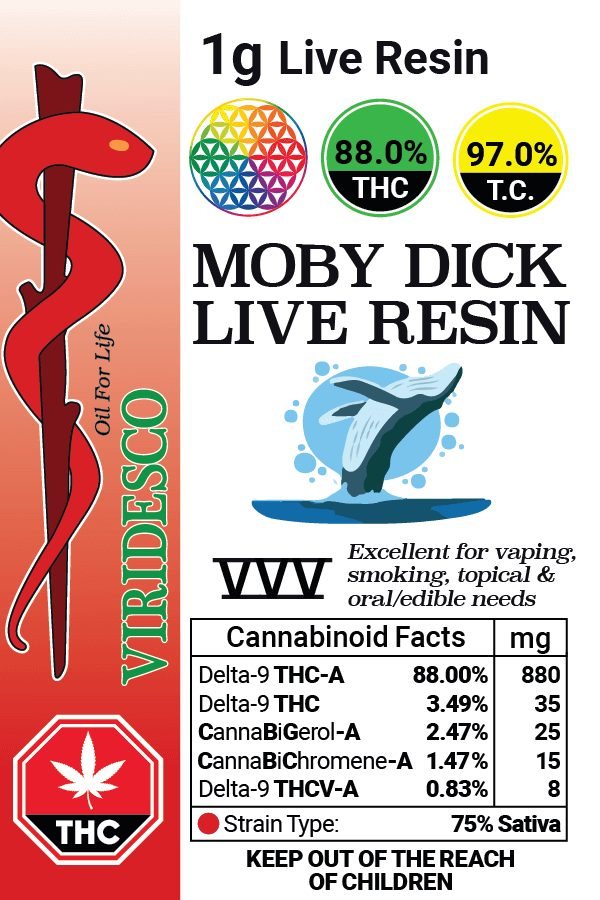 Moby Dick Live Resin 1gr 2020 03 22 01